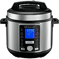 Gourmia 6-Quart Pressure Cooker w/ Auto Release (Stainless Steel)