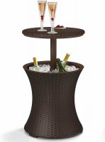 Keter 7.5-Gal Cool Bar Rattan Style Table