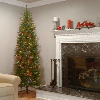 National Tree 7.5 Foot Kingswood Fir Pencil Tree with 350 Multicolor Lights