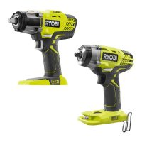 "Ryobi 18V ONE+ Cordless 1/2"" Impact Wrench & 3/8"" Impact Wrench Bare Tools"