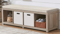 Better Homes & Gardens 4-Cube Storage Bench (Various Colors)