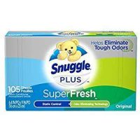105-Count Snuggle Plus Super Fresh Fabric Softener Dryer Sheets