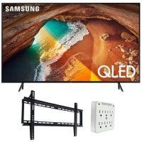 """55"""" Samsung QN55Q60RA Q60 4K Smart QLED TV + Mounting Kit Bundle"""