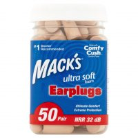 50-Pair Mack's Ultra Soft Foam Earplugs (32dB NRR)
