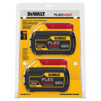 2-Pack DeWALT 20V/60V 9.0Ah MAX FLEXVOLT Lithium-Ion Battery