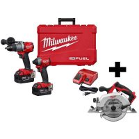 Milwaukee M18 Fuel 18V Hammer Drill/Impact Driver Kit + M18 Circular Saw