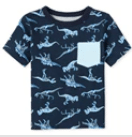 Baby and Toddler Boys Mix and Match Print Pocket Tee