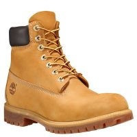"Timberland Men's 6"" Premium Waterproof Boots (Wheat Nubuck)"
