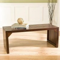 Southern Enterprises Clermont Wooden Slat Bench/Table (Espresso)