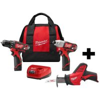 Milwaukee M12 12V Li-ion Drill/Impact Driver Combo Kit + M12 Hackzall Recip Saw