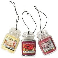 3-pack Yankee Candle Car Jar Hanging Air Freshener (Various Scents)