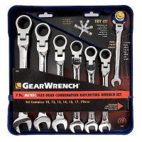 Gear Wrench Tools: 7-Piece Metric Flex Head Ratcheting Combination Wrench Set