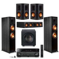 Klipsch: 2x RP-8000F + RP-404C + 2x RP-502S + Rel HT/1508 Sub + Yamaha RX-A2080