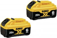 2-Pack DeWALT DCB206-2 20V 6.0Ah Max XR Premium Battery Pack