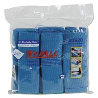 6-Pack WypAll Microfiber Dry Cloths w/ Microban Protection (Blue)