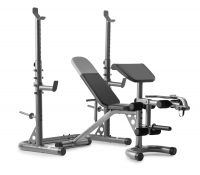 Weider XRS 20 Olympic Workout Bench w/ Squat Rack and Preacher Pad