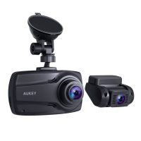 """Aukey DR03 Front and Rear 1080P Dash Cams w/ Supercapacitor & 2.7"""" Screen"""