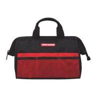 """Craftsman 6-Pocket 13"""" Wide Mouth Tool Bag (Black/Red)"""