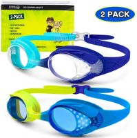 2-Pack OutdoorMaster Kids UV Swim Goggles