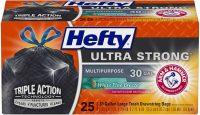 25-Count Hefty 30-Gallon Ultra Strong Trash Bags