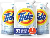 9-Pack 48-Oz Tide HE Laundry Detergent Pouches (Free and Gentle)