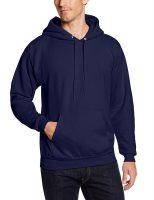 Hanes Men's Pullover Ecosmart Fleece Hooded Sweatshirt (Navy)