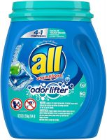 60-Ct All Mighty 4-in-1 Laundry Detergent Pacs (Odor Lifter Original or Oxi)
