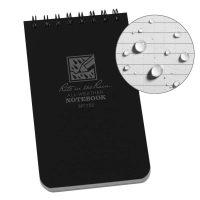 "Rite in the Rain 3"" x 5"" Weatherproof Top-Spiral Notebook (Black)"
