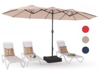 15' MF Studio Outdoor Patio Table Umbrella with Stand (various colors)