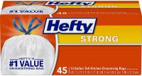 45-Count 13-Gallon Hefty Strong Tall Kitchen Trash Bags