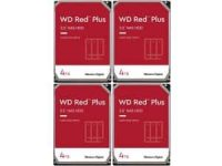 """4-Pack 4TB WD Red Plus NAS 3.5"""" 5400 RPM Internal Hard Drives"""