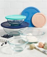 Pyrex 8-Piece Glass Mixing Bowl Set (4-Bowls + 4-Lids)