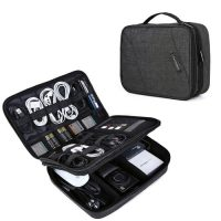Large Electronics Organizer Travel Bag for 10.5 inch iPad Pro Adapter Cables etc $13.99