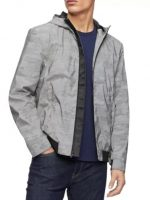 Men's Jackets: Calvin Klein Men's Reflective Camouflage Jacket