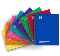 TRU Red Wide-Ruled 70-Sheet 1-Subject Notebook (Random Color)