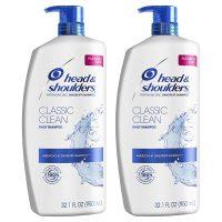 2-Pack 32.1oz Head and Shoulders Anti Dandruff Shampoo (Classic Clean)