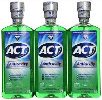 3-Pack 18oz ACT Anticavity Fluoride Mouthwash (Mint)
