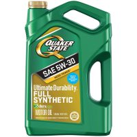 5-Quart Quaker State Ultimate Durability 5W-30 Full Synthetic Motor Oil