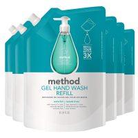 6-Pack 34oz Method Gel Hand Soap Refill (Waterfall or Sweet Water)
