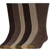 6-Pairs Gold Toe Men's Harrington Crew Socks (Various Styles)
