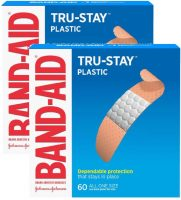 Band-Aid Adhesive Bandages: 60-Count Tru-Stay Plastic Strips