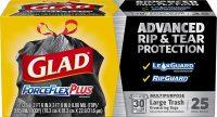 25-Count 30-Gallon Glad ForceFlexPlus Black Large Drawstring Trash Bags