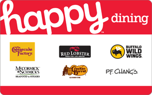 Happy Gift Cards 20% off at Discover Cashback Portal works at Macy's Ulta Chili's Red Lobster PF Changs Lowe's Gamestop and more