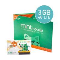 12-Month Mint Mobile Unlimited Talk/Text + 3GB 4G LTE Prepaid SIM Card Kit