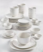 42-Piece Tabletops Unlimited Whiteware Dinnerware Set (Service for 6)