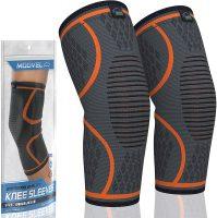 2-Pack Modvel Compression Knee Sleeve (Orange)
