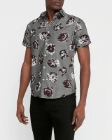 Express Apparel Final Sale: Men's Slim Floral Chambray Soft Wash Shirt