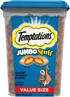 14-oz Temptations Jumbo Stuff Crunchy & Soft Cat Treats (Salmon)