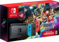 $299.99 Nintendo Switch (Neon) Mario Kart 8 Deluxe 3 Months Online - Best Buy (Nov 22)