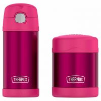 Costco Members: 12oz Thermos FUNtainer Bottle and 10oz Food Jar Lunch Set (Pink)